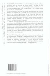 Les systèmes électoraux aux présidentielles et aux législatives - 4ème de couverture - Format classique