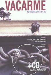 Revue Vacarme N.25 ; L'Irak De L'Intérieur - Intérieur - Format classique