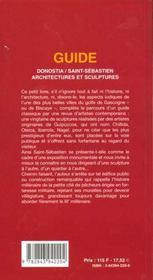 Guide Donostia / Saint-Sebastien Architectures Et Sculptures - 4ème de couverture - Format classique