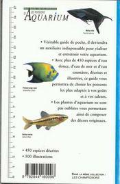 Poissons D Aquarium (Les) - 4ème de couverture - Format classique