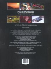 L'annee rallyes 2005 - 4ème de couverture - Format classique