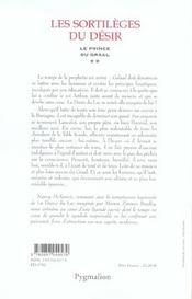 Le prince du graal t.2 ; les sortileges du desir - 4ème de couverture - Format classique