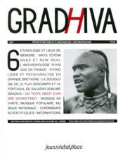 Cahier De Gradhiva N.6 - Couverture - Format classique