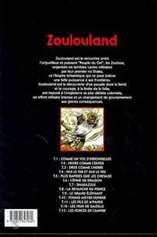 Zoulouland t.13 ; les forces de l'empire - 4ème de couverture - Format classique