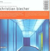 Christian Biecher - 4ème de couverture - Format classique