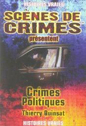 Crimes politiques - Intérieur - Format classique
