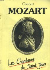 Programme Du Concert De Mozart Par Les Chanteurs De Saint-Jean - Couverture - Format classique