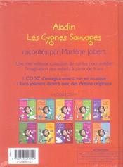 Aladin ; Les Cygnes Sauvages - 4ème de couverture - Format classique