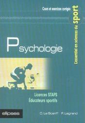 Psychologie ; Licences Staps, Educateurs Sportifs - Intérieur - Format classique