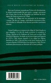 Le culte des esprits ; margay ou maragi chez les dangaléat du guéra - 4ème de couverture - Format classique