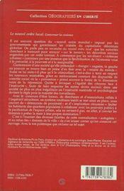 Le Nouvel Ordre Local ; Gouverner La Violence - 4ème de couverture - Format classique