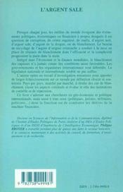 L'Argent Sale ; Dans Les Reseaux Du Blanchissement - 4ème de couverture - Format classique