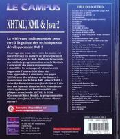 Développement Web Avec Xhtml, Xml, Javascript, Dhtml Et Java 2 - 4ème de couverture - Format classique