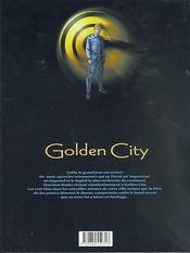 Golden city t.5 ; le dossier Harrison - 4ème de couverture - Format classique