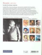 Einstein. - 4ème de couverture - Format classique