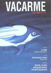 Revue Vacarme N.24 ; La Mer - Intérieur - Format classique