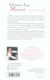 Mozart T.3 ; Le Frere Du Feu - 4ème de couverture - Format classique