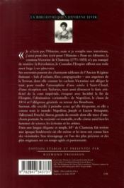 Victorine de Chastenay ; mémoires 1771-1855 - 4ème de couverture - Format classique