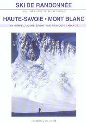 Ski de randonnée ; Haute-Savoie, Mont-Blanc - Intérieur - Format classique