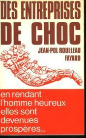 Des Entreprises De Choc. - Couverture - Format classique