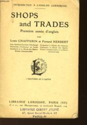 Shops Ans Trades - Premiere Annee D'Anglais - Couverture - Format classique