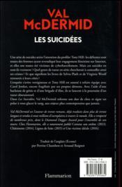 Les suicidées - 4ème de couverture - Format classique