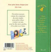 Ma Priere Pour Paques Et Le Printemps - 4ème de couverture - Format classique