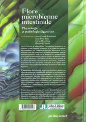 Flore Microbienne Intestinale. Physiolo Gie Et Pathologie Digestives - 4ème de couverture - Format classique