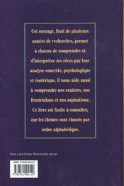 Comprendre Et Interpreter Les Reves - 4ème de couverture - Format classique