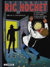INTEGRALE RIC HOCHET T.13 ; Ric Hochet ; INTEGRALE VOL.13 - Intérieur - Format classique