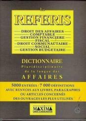 Coffret 2 Tomes Le Referis Dictionnaire Pluridisciplinaire De La Langue Des Affaires - Couverture - Format classique
