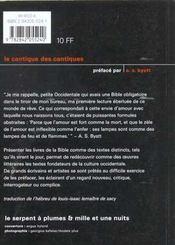 Cantique Des Cantiques - 4ème de couverture - Format classique