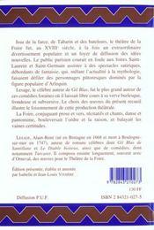 Theatre De La Foire - 4ème de couverture - Format classique