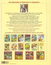 Les aventures de Fripounet et Marisette t.11 ; le caillou jaune - 4ème de couverture - Format classique