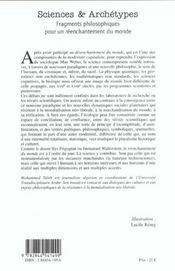 Sciences Et Archetypes - 4ème de couverture - Format classique