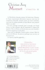 Mozart T.4 ; L'Aime D'Isis - 4ème de couverture - Format classique