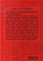 Chant De La Tete Arrachee - 4ème de couverture - Format classique