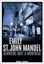 Dernière nuit à Montréal - Couverture - Format classique