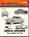 Simca Aronde (1951/1963) N 23 - Couverture - Format classique