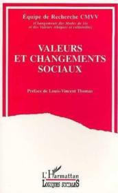 Valeurs et changements sociaux - Couverture - Format classique