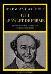 Uli Le Valet De Ferme - Couverture - Format classique