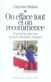 On Efface Tout On Recommence - Propositions Pour Une Nouvelle Revolution Francaise - Intérieur - Format classique
