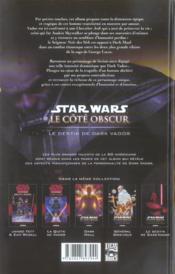 Star Wars - le côté obscur t.5 ; le destin de Dark Vador - 4ème de couverture - Format classique