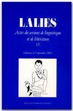Revue Lalies N.12 - Couverture - Format classique