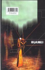 Blame - Tome 09 - 4ème de couverture - Format classique