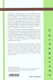 Geographie Regionale - 4ème de couverture - Format classique