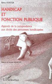 Handicap Et Fonction Publique ; Apports De La Jurisprudence Aux Droits Des Personnes Handicapees - Intérieur - Format classique