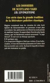 Higgins Mene L'Enquete - 4ème de couverture - Format classique
