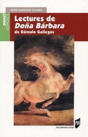 Lectures de Dona Bárbara ; de Rómulo Gallegos - Couverture - Format classique