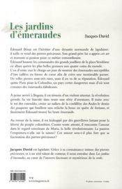 Les jardins d'émeraudes - 4ème de couverture - Format classique